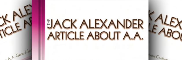 The Jack Alexander Article