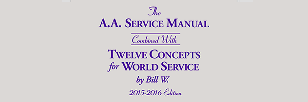 AA Service Manual and Twelve Concepts 2015-2016