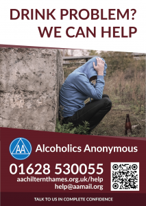 Burgundy awareness campaign poster